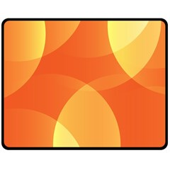 Abstract Orange Yellow Red Color Double Sided Fleece Blanket (medium)