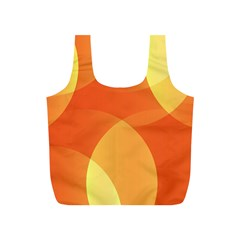 Abstract Orange Yellow Red Color Full Print Recycle Bags (S)
