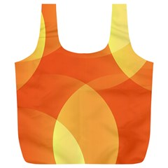 Abstract Orange Yellow Red Color Full Print Recycle Bags (l)