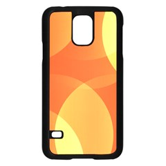 Abstract Orange Yellow Red Color Samsung Galaxy S5 Case (Black)
