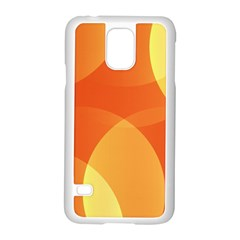 Abstract Orange Yellow Red Color Samsung Galaxy S5 Case (white)