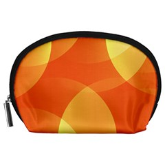 Abstract Orange Yellow Red Color Accessory Pouches (large)