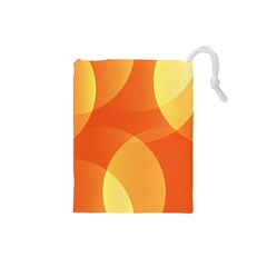 Abstract Orange Yellow Red Color Drawstring Pouches (Small)