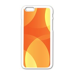 Abstract Orange Yellow Red Color Apple Iphone 6/6s White Enamel Case