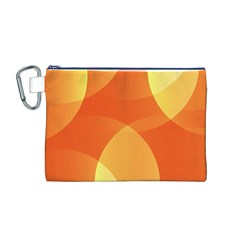 Abstract Orange Yellow Red Color Canvas Cosmetic Bag (m)