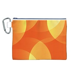 Abstract Orange Yellow Red Color Canvas Cosmetic Bag (l)