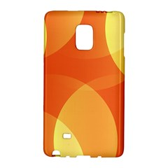 Abstract Orange Yellow Red Color Galaxy Note Edge