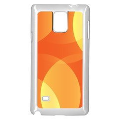 Abstract Orange Yellow Red Color Samsung Galaxy Note 4 Case (white)