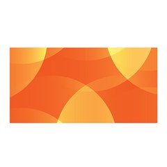 Abstract Orange Yellow Red Color Satin Wrap