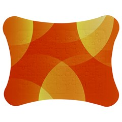 Abstract Orange Yellow Red Color Jigsaw Puzzle Photo Stand (Bow)