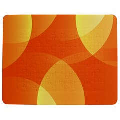 Abstract Orange Yellow Red Color Jigsaw Puzzle Photo Stand (rectangular)