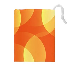 Abstract Orange Yellow Red Color Drawstring Pouches (extra Large)
