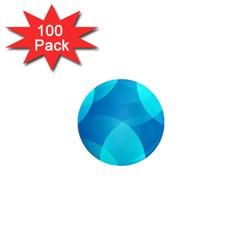 Abstract Blue Wallpaper Wave 1  Mini Magnets (100 pack)