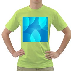 Abstract Blue Wallpaper Wave Green T Shirt