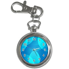 Abstract Blue Wallpaper Wave Key Chain Watches
