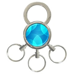 Abstract Blue Wallpaper Wave 3 Ring Key Chains