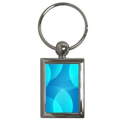 Abstract Blue Wallpaper Wave Key Chains (rectangle)