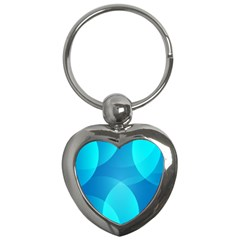 Abstract Blue Wallpaper Wave Key Chains (heart)
