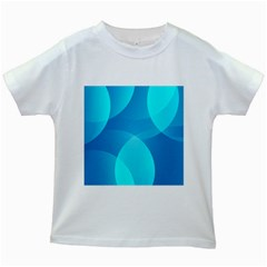 Abstract Blue Wallpaper Wave Kids White T Shirts