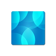 Abstract Blue Wallpaper Wave Square Magnet