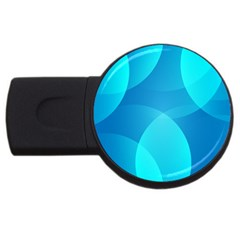 Abstract Blue Wallpaper Wave USB Flash Drive Round (1 GB)