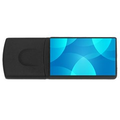 Abstract Blue Wallpaper Wave USB Flash Drive Rectangular (1 GB)
