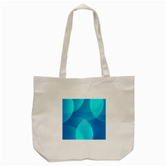 Abstract Blue Wallpaper Wave Tote Bag (cream)