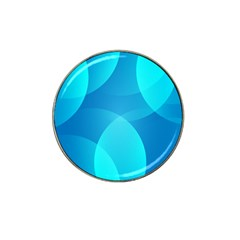 Abstract Blue Wallpaper Wave Hat Clip Ball Marker (4 Pack)