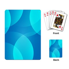 Abstract Blue Wallpaper Wave Playing Card