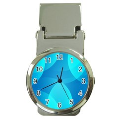 Abstract Blue Wallpaper Wave Money Clip Watches