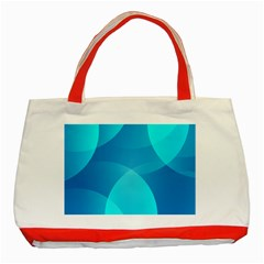 Abstract Blue Wallpaper Wave Classic Tote Bag (red)