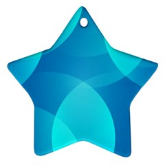 Abstract Blue Wallpaper Wave Star Ornament (Two Sides)