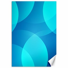 Abstract Blue Wallpaper Wave Canvas 12  x 18