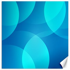 Abstract Blue Wallpaper Wave Canvas 16  x 16