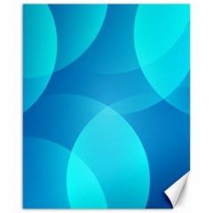 Abstract Blue Wallpaper Wave Canvas 16  X 20