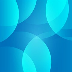 Abstract Blue Wallpaper Wave Canvas 20  x 20