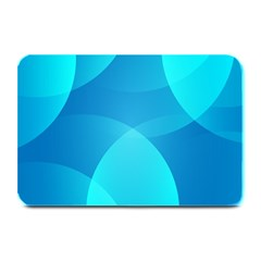 Abstract Blue Wallpaper Wave Plate Mats
