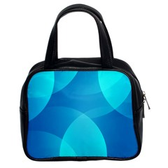 Abstract Blue Wallpaper Wave Classic Handbags (2 Sides)