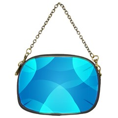 Abstract Blue Wallpaper Wave Chain Purses (two Sides)