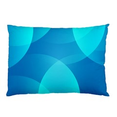 Abstract Blue Wallpaper Wave Pillow Case