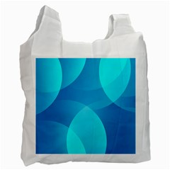 Abstract Blue Wallpaper Wave Recycle Bag (one Side)