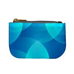 Abstract Blue Wallpaper Wave Mini Coin Purses