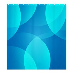 Abstract Blue Wallpaper Wave Shower Curtain 66  X 72  (large)