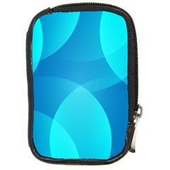 Abstract Blue Wallpaper Wave Compact Camera Cases