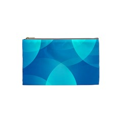 Abstract Blue Wallpaper Wave Cosmetic Bag (small)