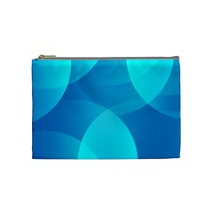 Abstract Blue Wallpaper Wave Cosmetic Bag (medium)