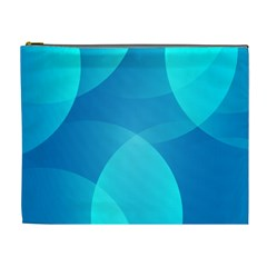 Abstract Blue Wallpaper Wave Cosmetic Bag (XL)
