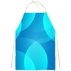 Abstract Blue Wallpaper Wave Full Print Aprons