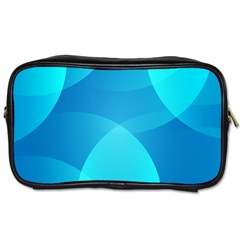 Abstract Blue Wallpaper Wave Toiletries Bags 2 Side