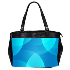 Abstract Blue Wallpaper Wave Office Handbags (2 Sides)